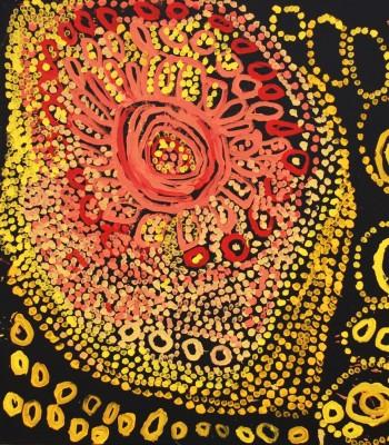 Painting by Tjunka Lewis, Warakurna Artists