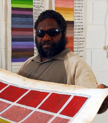 Artist in the studio, Tjarlirli Art